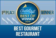 coastal style magazine best gourmet restaurant