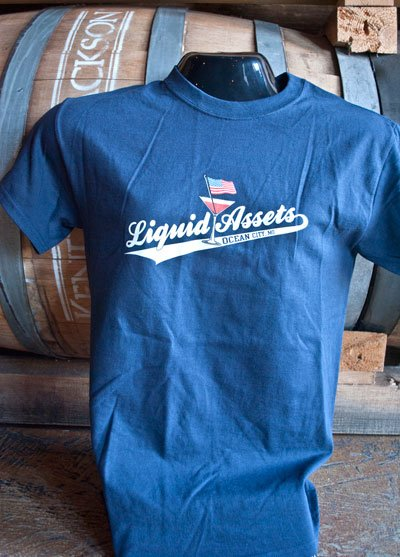 Short Sleeve Blue Liquid Assets Tee Shirt