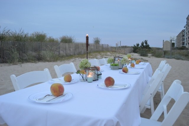 Table Setting On The Beach