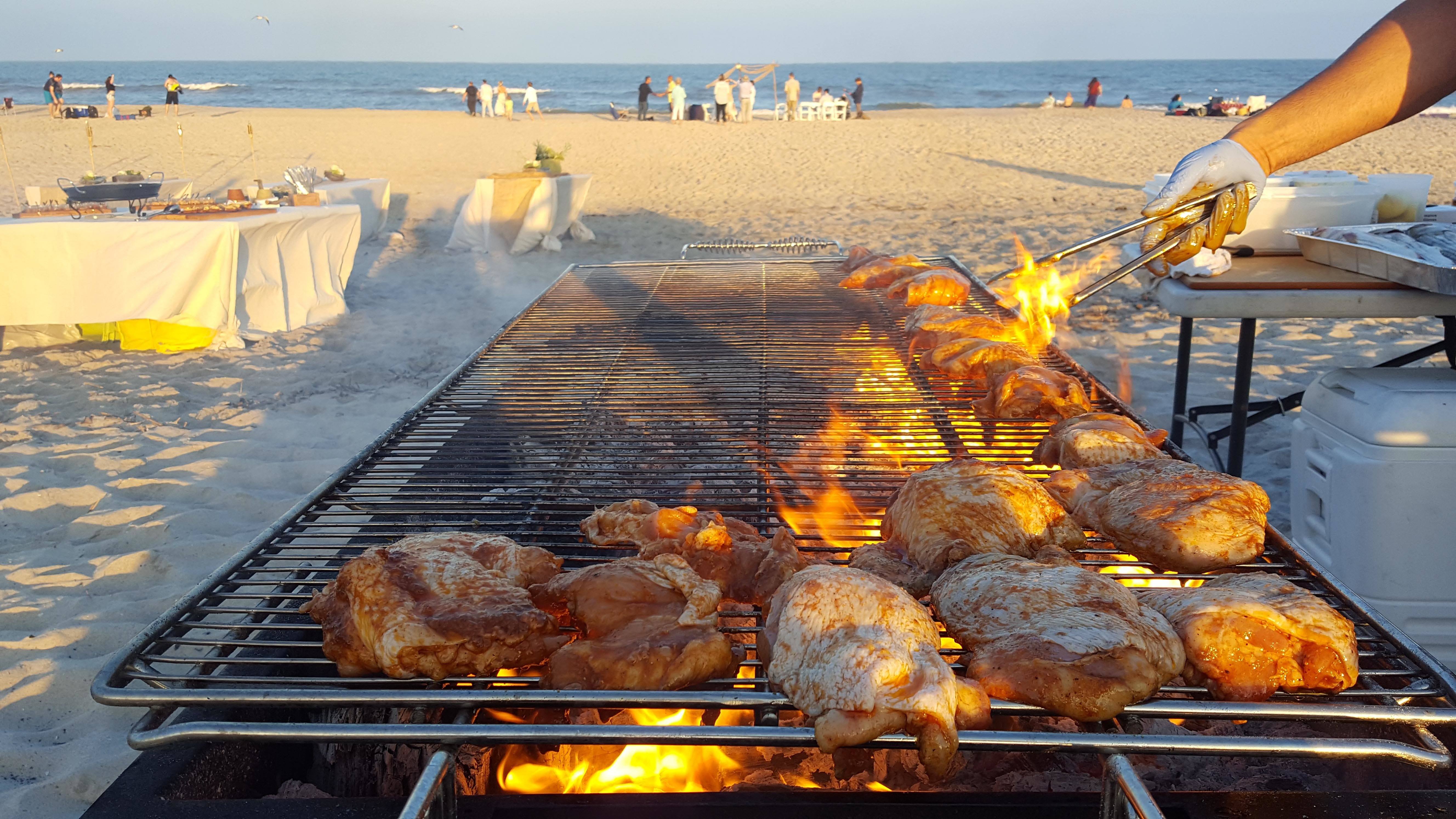 Grilled Chicken on the beach