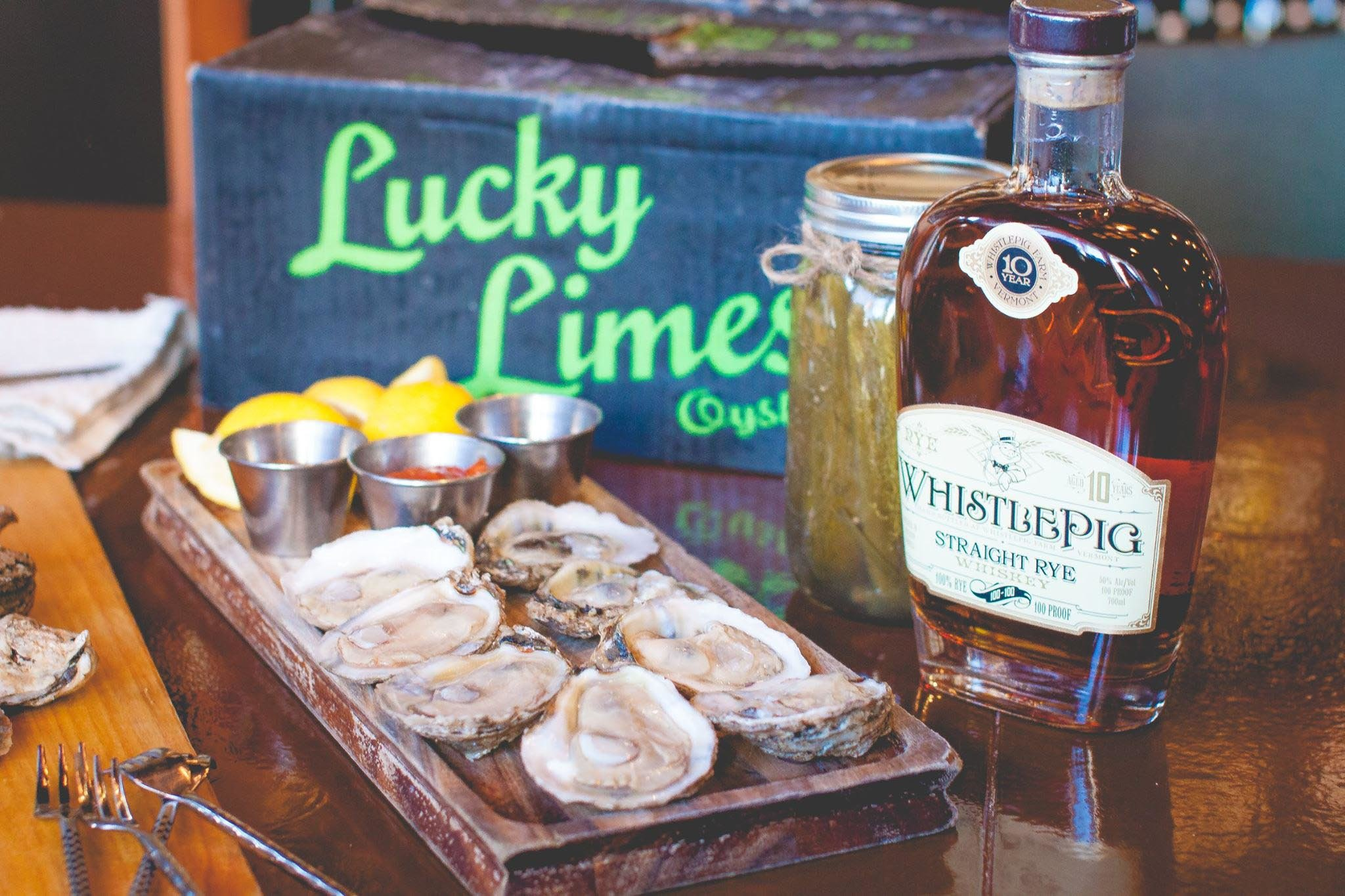 Liquid Assets Oysters with Whiskey